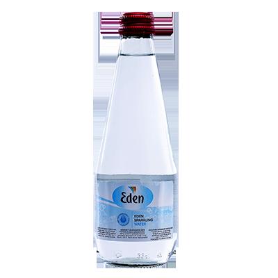 Eden vanduo stiklas gazuotas 0,33l